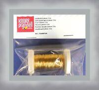 GOLDDRAHT mit 24 Karat vergoldet 0,4 mm 17 m Schmuckdraht Basteldraht Drähte