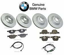 For BMW 550i 750i F01 F02 F07 Front & Rear Brake Discs Pads Sensors KIT Genuine