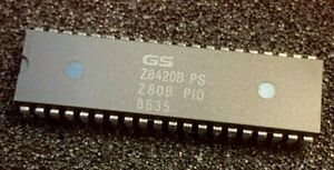 2pcs x  Z8420BPS Z80B PIO 6Mhz GoldStar 40 pin Z8420B DIP