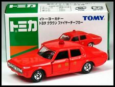 TOMICA Ito-Yokado TOYOTA NEW CROWN MS60 FIRE CHIEF CAR 1/65 TOMY DIECAST CAR