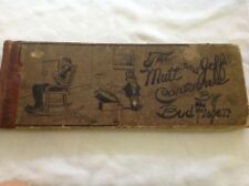 1910 Mutt And Jeff Cartoons Book By Bud Fisher, Pittsburgh Gazette Times