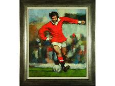 Stephen Wild - 'George Best' - Original Oil on Canvas. Northern Art. Football.
