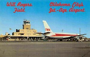 Will Rogers Field TWA Jet Aircraft Plane Oklahoma City OK postcard