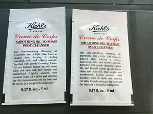 KIEHL'S SINCE 1851 - SMOOTHING OIL-TO-FOAM BODY CLEANSER  2x5 ml -CRÈME DE CORPS