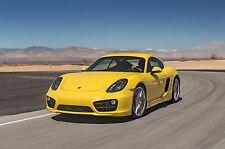 2015 Porsche 911 Cayman ( yellow ) 24 x 36 Poster