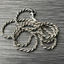 Vintage Livior Italy 925 Sterling Silver Rope Chain Necklace 20 Inches 10.5g