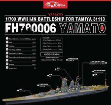 Flyhawk 1/700 780006 IJN Yamato for Tamiya