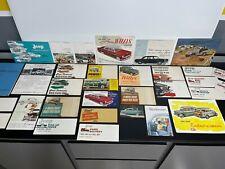 Lot 30+ Vintage Original 1950s JEEP & WILLYS Car Dealer SALES BROCHURE Catalog