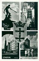 Ansichtskarte Danzig vier Ansichten Krone  (Nr.9160)
