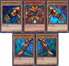 YuGiOh 1st Edition EXODIA THE FORBIDDEN ONE 5-Card HEAD+ARMS & LEGS HoloFoil SET