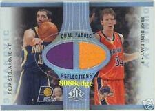 2006-07 UD REFLECTIONS DUAL FABRIC: PEJA STOJAKOVIC/MIKE DUNLEAVY - GAME SWATCH