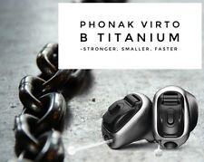 2 (Lt & Rt) New Phonak Virto B90-T Titanium IIC/CIC 20CH Custom Hearing Aids