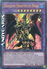 DRAGONE NERO OCCHI ROSSI • (Red-Eyes Dark Dragoon) • Ultra R • MP20 IT249 Yugioh