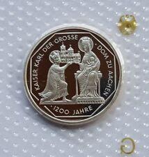 GERMANY 10 MARK PROOF SILVER COIN 2000 G KARL DER GROSSE MINT SEALED