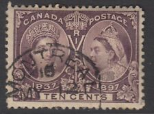 CANADA : 1897 Jubilee issue 10c purple  SG 131 fine used