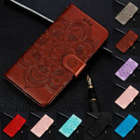 For Huawei Mate 20 Lite Sunflower Flip Stand Card Wallet Leather TPU Case Cover