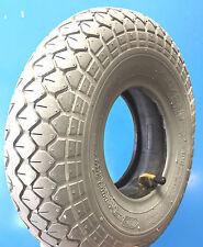 Reifen mit Schlauch 4.10/3.50-5 grau für Elektromobil Scooter Elektro Rollstuhl