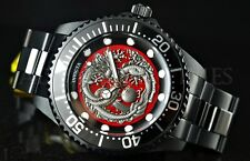 Invicta 47mm Pro Diver DRAGON NH35A Automatic BLACK ION PLATED SS Watch 26492