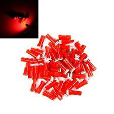 10Pcs 12V T5 5050 1 SMD Salpicadero Coche Auto Rojo LED Bombilla Luz Lampara BC