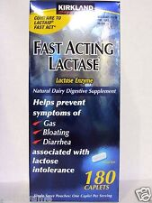 Kirkland Signature FAST ACTING LACTASE 180 Caplets *Natural Dairy Digestive*