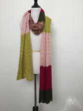 MISSONI Wool Knit Multi Color Block Scarf 9 feet long