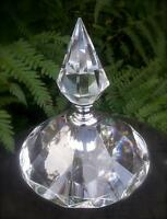 Clear Crystal Perfume Bottle Art deco Vintage Style