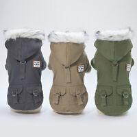 Hundemantel Haustier Winter Kleidung Jacke Hundepullover Fleece Hundekleidung DE