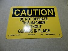 "NEW Brady 22875 Caution Do Not Operate Safety Sign 10"" x 7""  *FREE SHIPPING*"