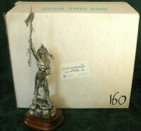 """Chilmark Pewter """"SPIRIT of the WOLF"""" LE # 160 of 500 Don Polland (NIB) 12"""" Tall"""