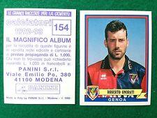 CALCIATORI 1992-93 92-1993 n 154 GENOA ONORATI , Figurina Sticker Panini NEW