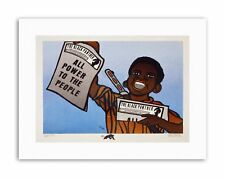 CIVIL RIGHTS NEWSPAPER BLACK PANTHER PARTY Political Canvas art Prints
