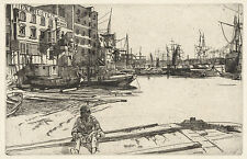 James McNeill Whistler Reproductions: Eagle Wharf - Fine Art Print