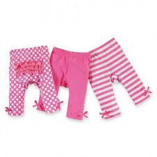 Mud Pie Size 9-12M PLAYGROUND SHORTIES SOLID & STRIPE Set Of 2 Baby Girls NWT