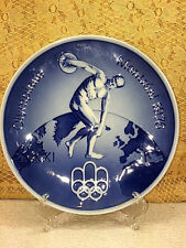 Royal Copenhagen Olympiade Montreal 1976 Blue Plate Olympics Collectible