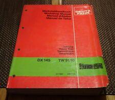 Deutz Fahr Power Train Transmission  DX145 TW91.10 Workshop Manual