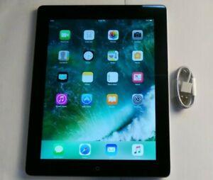 "Apple iPad 4th Generation 16GB, Wi-Fi, 9.7"" - Black (MD510LL/A) Good Condition"