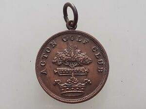 Antique Acton Golf Club Medal ,John Wilson October 1898