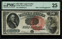 "1880 $50 Legal Tender FR-160 - Graded PMG 25 ""Comment"" - Very Fine"