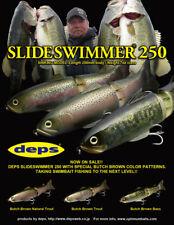 Deps SlideSwimmer 250 Slow Sinking Glide Bait Swimbait - Choose Color