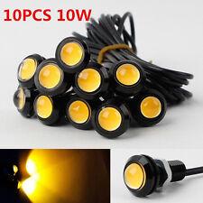 10Pcs Amber 10W Eagle Eye COB LED Car Daytime Running DRL Tail/Head Light Backup