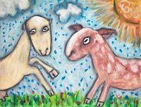 LaMancha The Strange NuMancha Art Print 8 x 10 Goat Collectible Farm Countryside