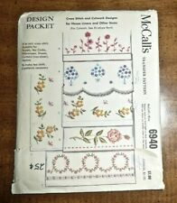 1963 McCALLS TRANSFER PATTERN #6940 for HOUSE LINENS & OTHER ITEMS - UNUSED