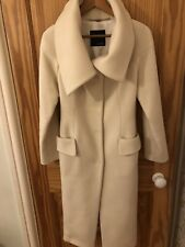 Italian Coat Mod Size 40, UK size 6-8 Cream colour Super Stylish