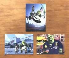 2004 Comic Images Shrek 2 - Complete WalMart Shrek Expo Promo Set of 3 Cards