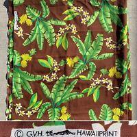 Vintage GVH Hawaii Print Fabric Hawaiian Tropica Floral