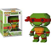 Funko 8-Bit Pop: Teenage Mutant Ninja Turtles-Raphael Collectible Figure, New