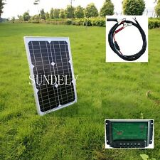 20w Solar Panel + 3m cable + 10A PMW Charger Controller for 12v 24v Battery
