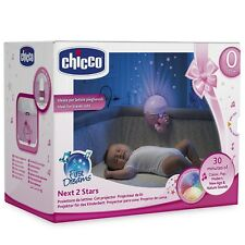 Chicco Next 2 Stars Cot Projector Nightlight Soother with Music & Light (Pink)