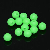 100x GLOW IN DARK Round Rig Beads Sea Fishing Lure Fast Float Floating Tack J9W6