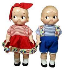 "Vtg Horsman Campbells Soup Kids 12"" Tall Boy and Girl Dolls 1997"